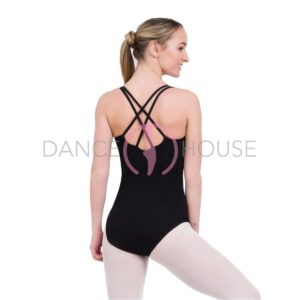 CC123 capezio retro nero body incrociato retro