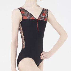 Body Wear Moi a fiori rosso e nero