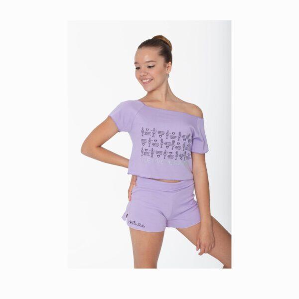 T-shirt El Petit Ballet lilla